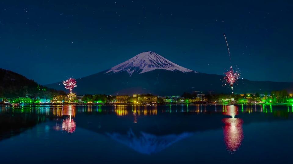 4K富士山烟火星之轨迹
