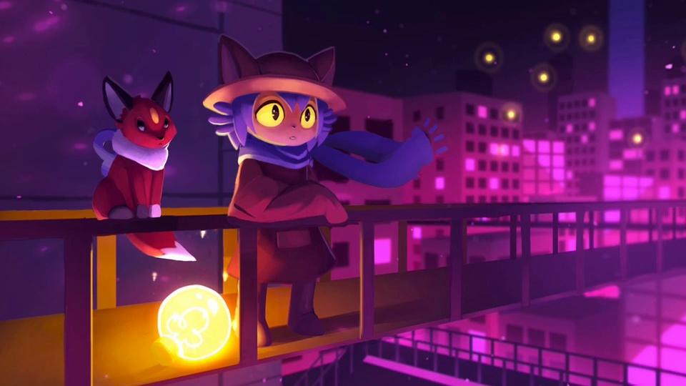 天桥上的狸猫