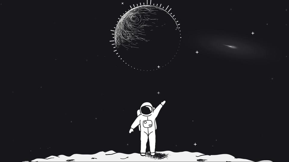 卡通宇航员