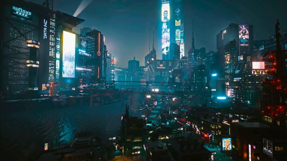 赛博朋克2077港口夜景