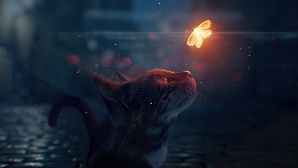 Ps流沙效果-小猫咪